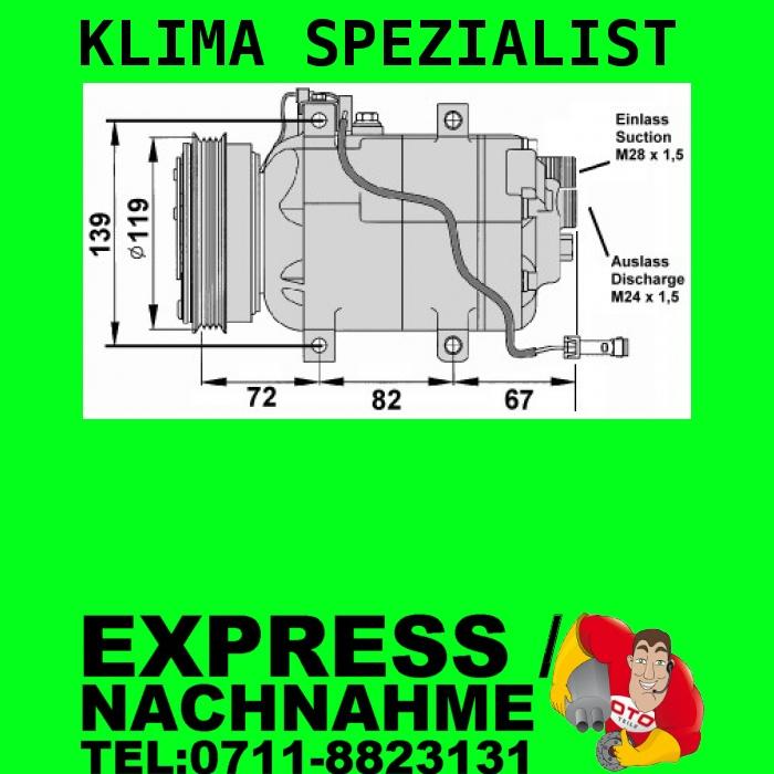 Klima Kompressor AUDI A6 (4B, C5) 97 05 1.8 1.9